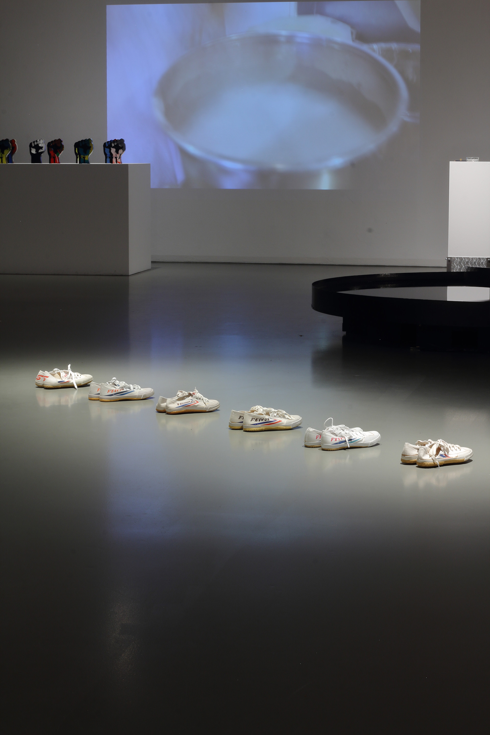 "Installation view of ""24/7 the human condition"", curated by Marlies Wirth, 1st Vienna Biennale, Museum of Applied Arts MAK, Vienna"